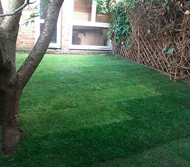 Garden clearance and laying natural turf